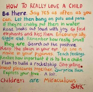 parenting - how to love a child