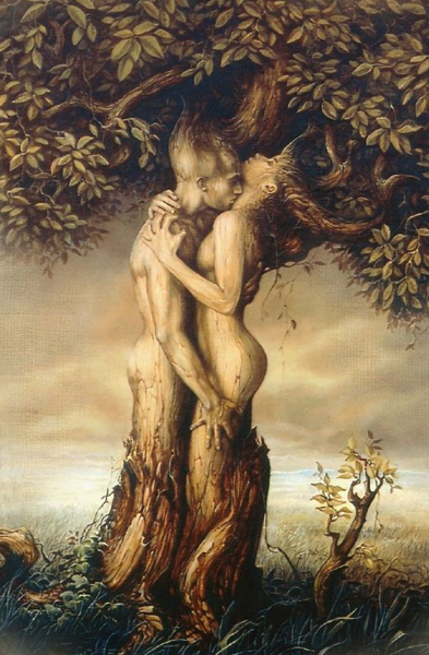 god and goddess as tree